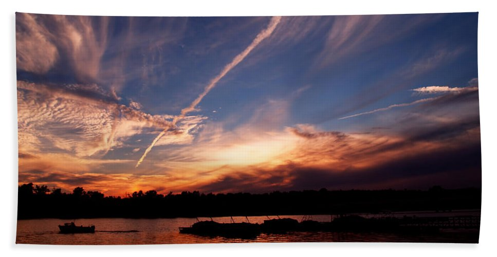 Sky Bath Towel featuring the photograph Spirits In The Sky by Gaby Swanson