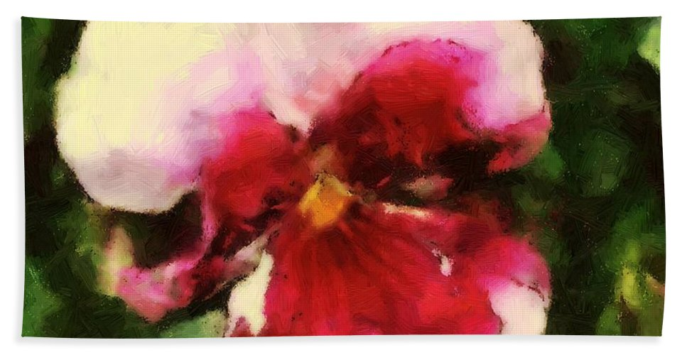 Lower Bath Sheet featuring the painting Splash Cerise by RC DeWinter