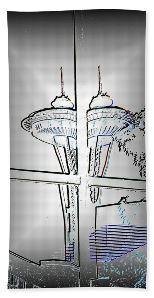 Seattle Hand Towel featuring the photograph Split Decision by Tim Allen