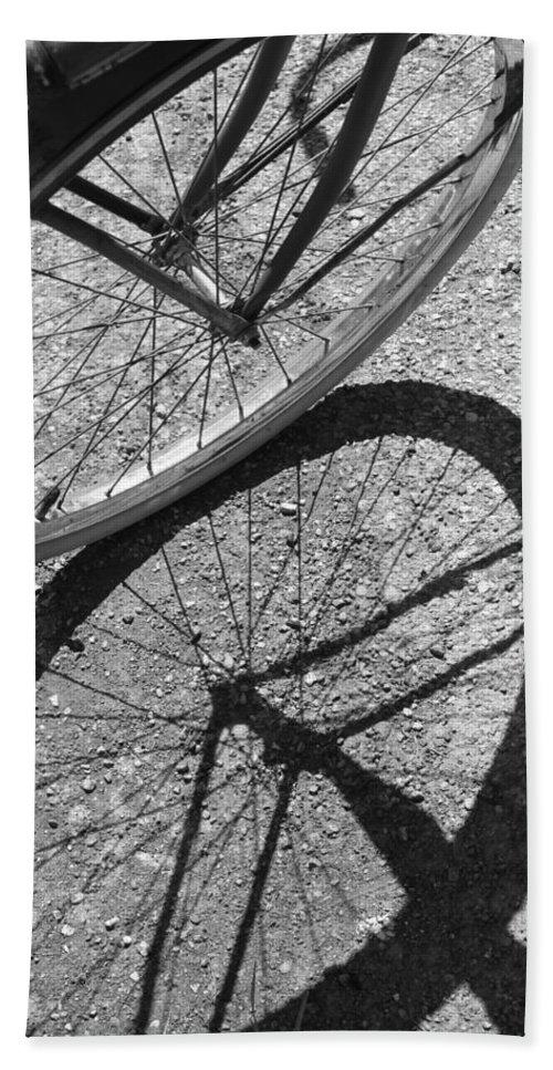 Bike Bath Sheet featuring the photograph Spoke Shadows by Lauri Novak
