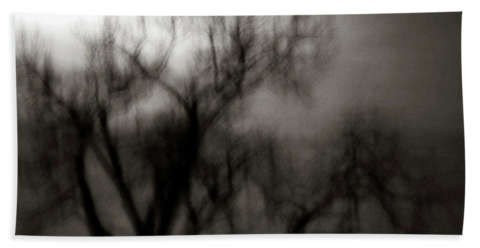 Spooky Hand Towel featuring the photograph Spooky Tree BW by Marilyn Hunt