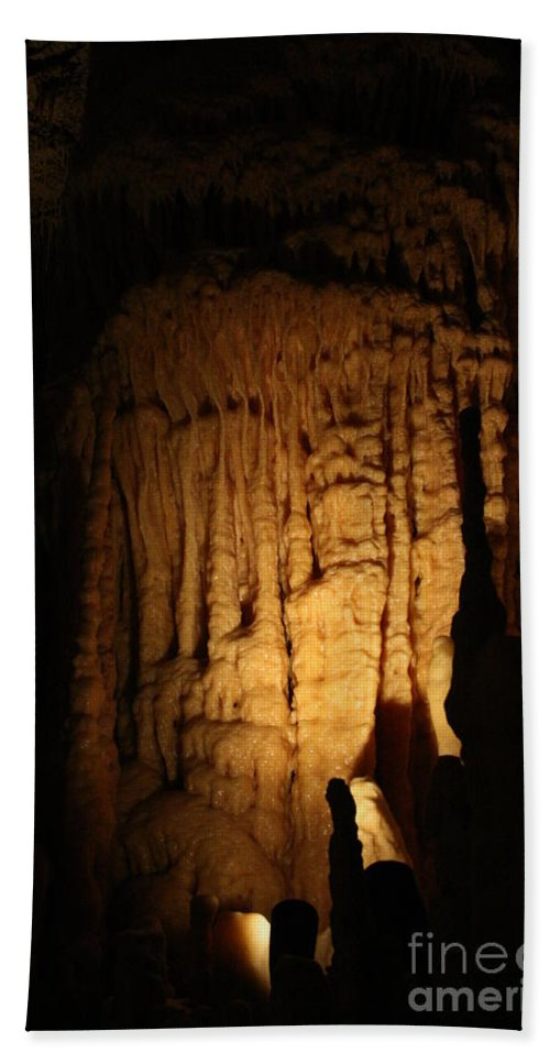 Natural Bath Sheet featuring the photograph Spotted Growth - Cave by Lynn Michelle