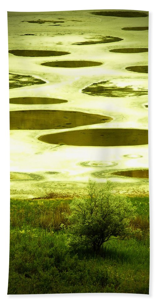 Spotted Lake Hand Towel featuring the photograph Spotted Lake by Tara Turner