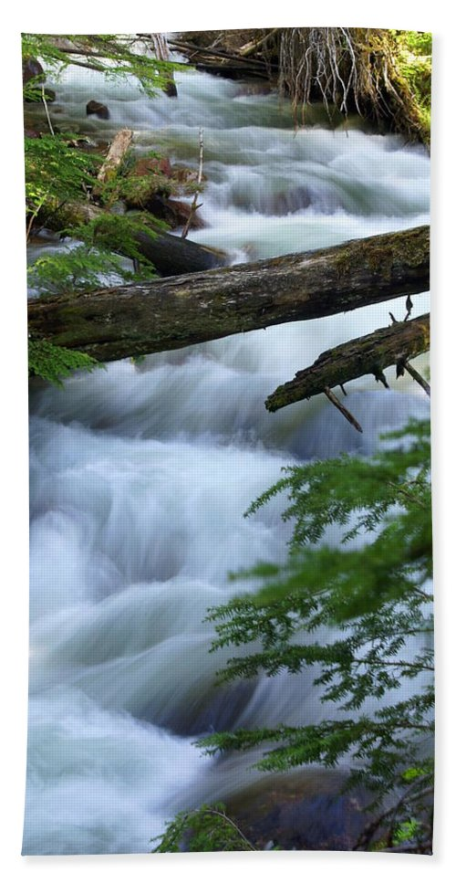 Glacier National Park Hand Towel featuring the photograph Sprague Creek Glacier National Park by Marty Koch