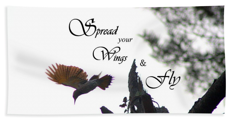 Spread Your Wings Hand Towel featuring the photograph Spread Your Wings by Patti Whitten