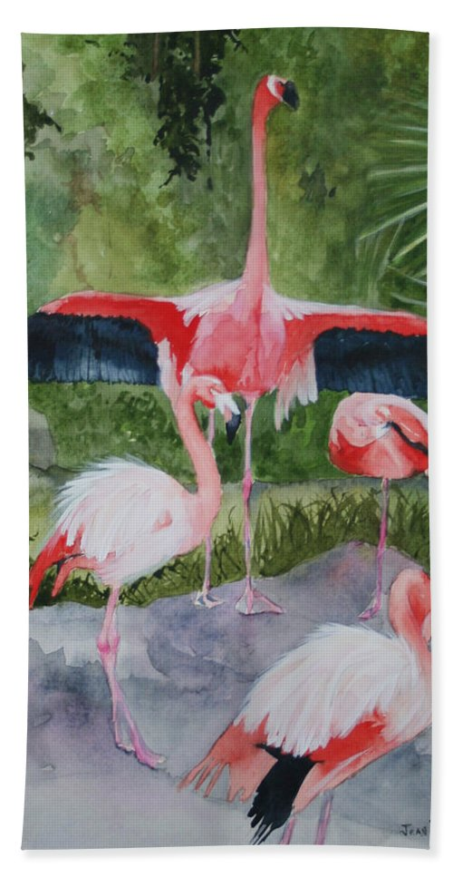Wings Hand Towel featuring the painting Spreading My Wings by Jean Blackmer