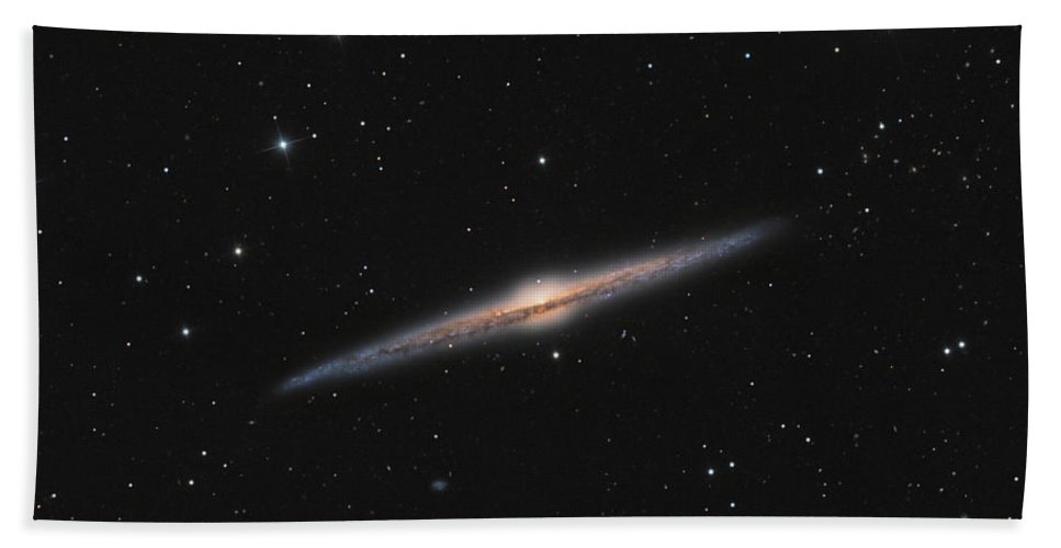 Horizontal Bath Sheet featuring the photograph Sprial Galaxy Ngc 4565 by Michael Miller