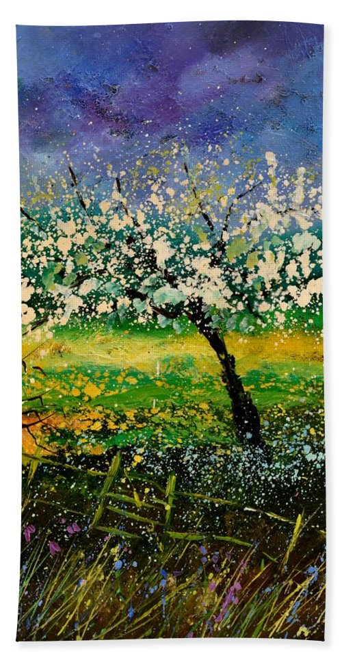 Spring Bath Sheet featuring the painting Spring 450150 by Pol Ledent