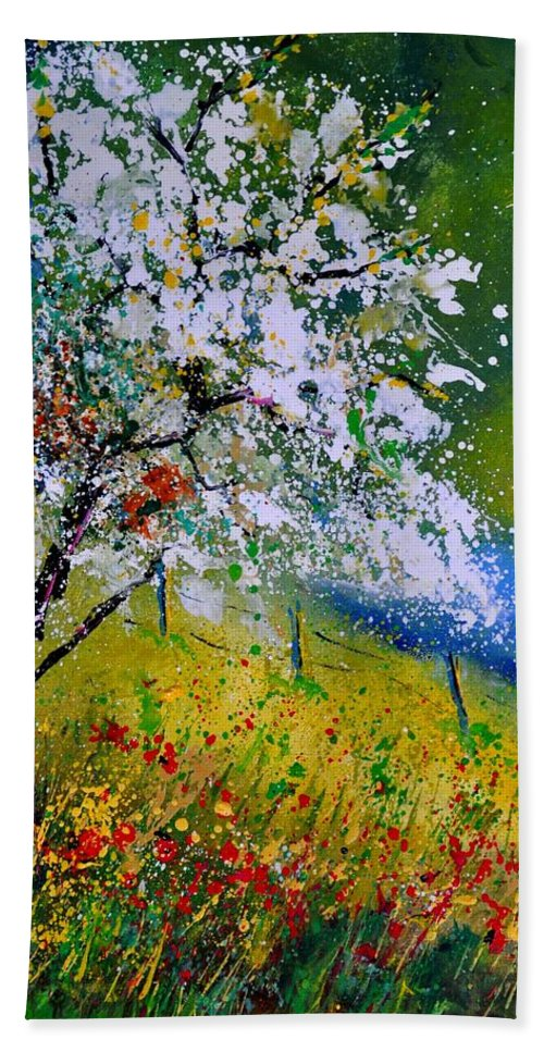 Landscape Hand Towel featuring the painting Spring 451110 by Pol Ledent