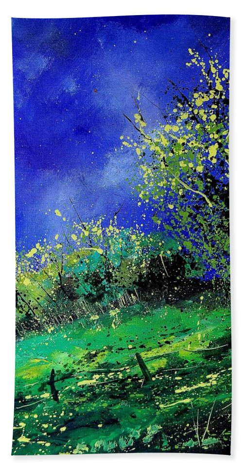 Spring Hand Towel featuring the painting Spring 459060 by Pol Ledent