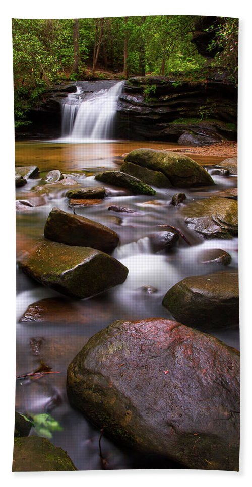 Spring Bath Sheet featuring the photograph Spring At Table Rock by Douglas Tate