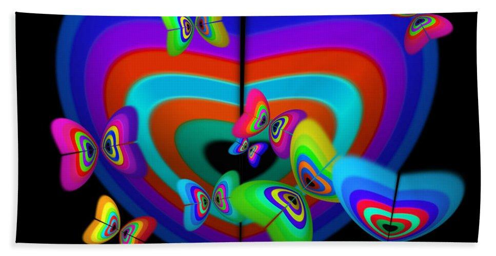 Bath Sheet featuring the digital art Spring by Charles Stuart