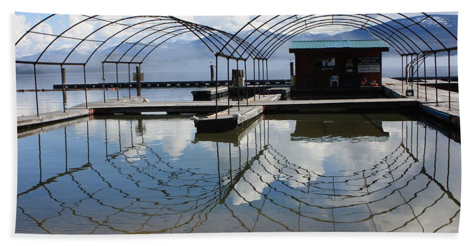 Spring Hand Towel featuring the photograph Spring Docks On Priest Lake by Carol Groenen