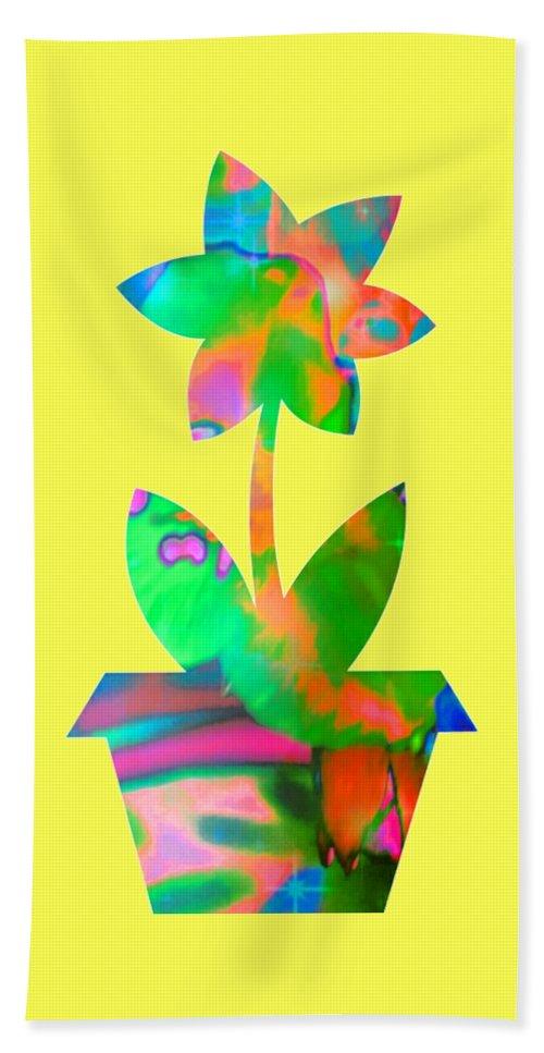 Flower Hand Towel featuring the digital art Spring Fever by Rachel Hannah