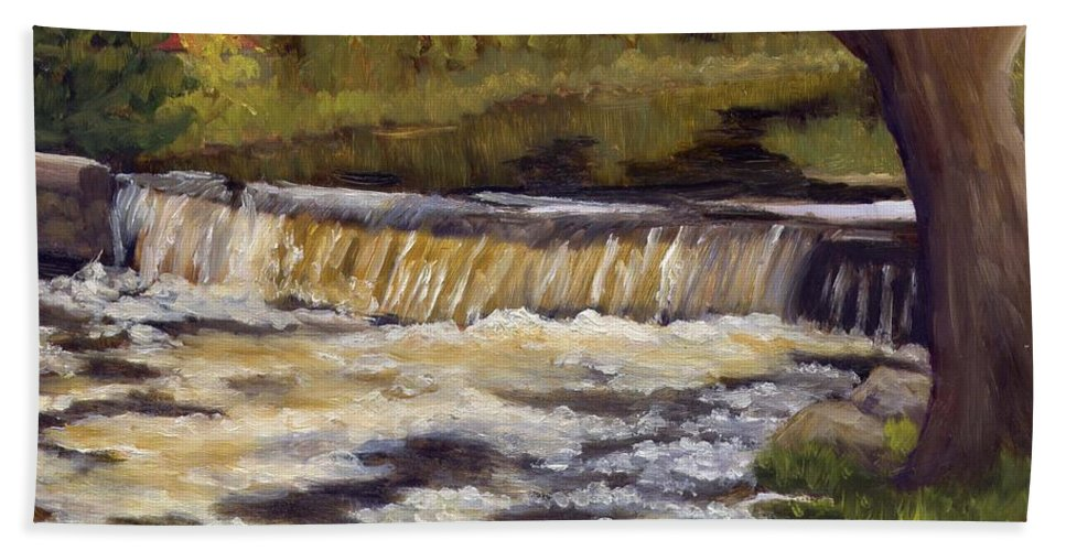 Water Bath Towel featuring the painting Spring Flow by Sharon E Allen