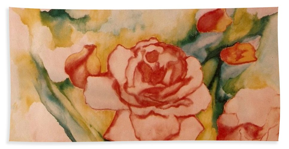 Blooms Artwork Hand Towel featuring the painting Spring Garden by Jordana Sands