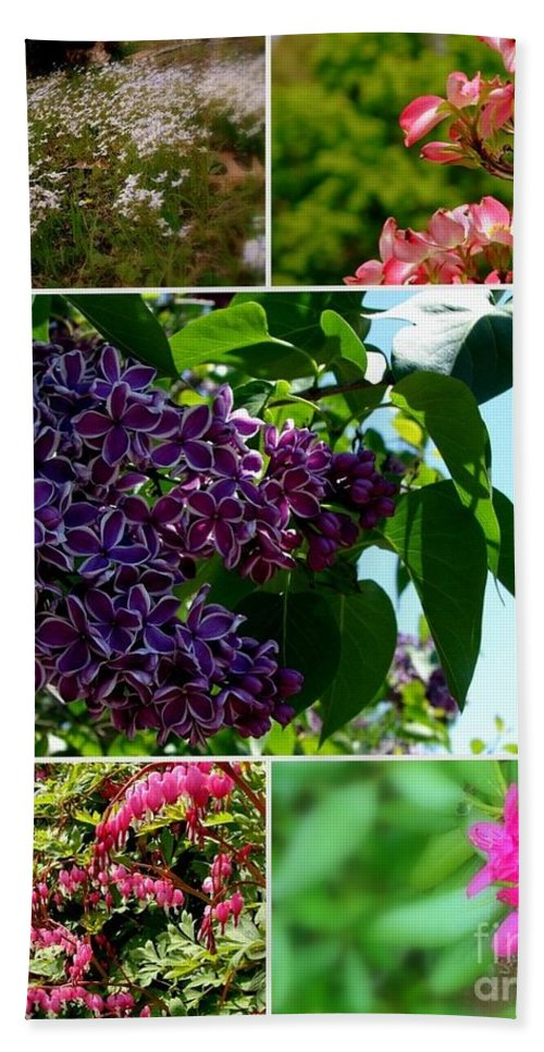 Lilacs Bath Sheet featuring the photograph Spring Glory by Priscilla Richardson