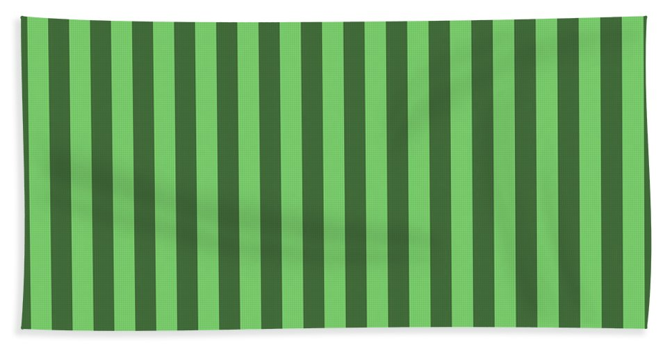 Spring Bath Sheet featuring the digital art Spring Green Striped Pattern Design by Ross