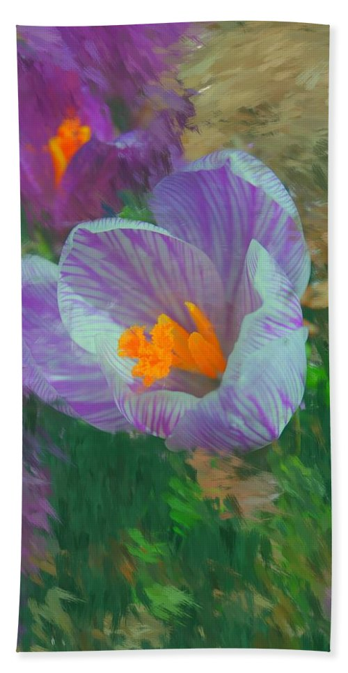 Digital Photography Hand Towel featuring the digital art Spring Has Sprung by David Lane