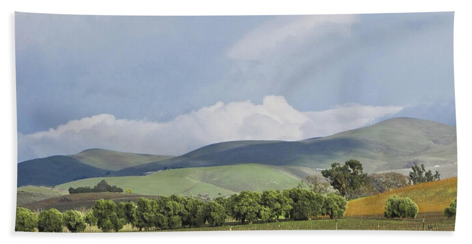 Landscape Bath Towel featuring the photograph Spring In Livermore by Karen W Meyer