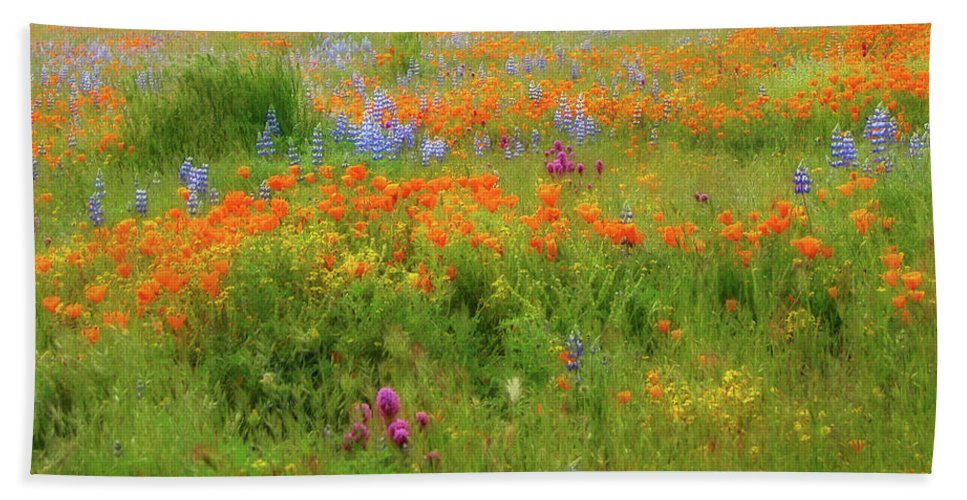 Wildflowers Bath Sheet featuring the photograph Spring Medley by Lynn Bauer