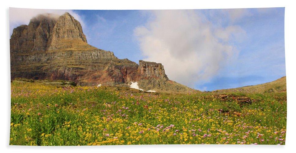 Glacier Hand Towel featuring the photograph Spring Mountain by Shari Jardina