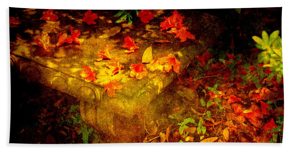 Flower Bath Towel featuring the photograph Spring Or Autumn by Susanne Van Hulst