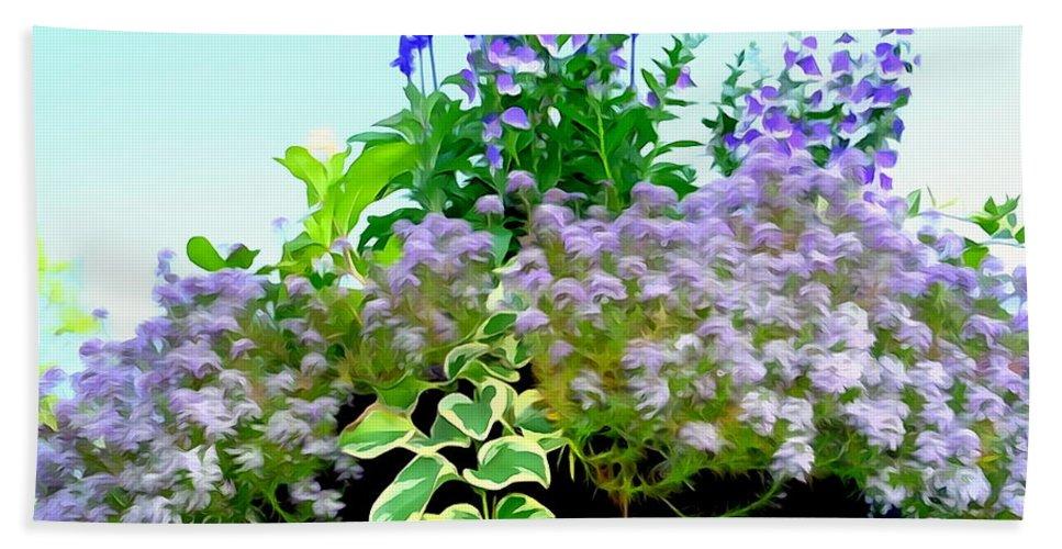 Digital Bath Sheet featuring the photograph Spring Planter by Ed Weidman