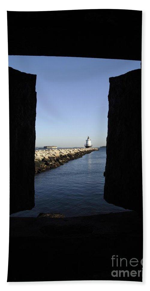 Maine Bath Sheet featuring the photograph Spring Point Ledge Light - Portland Mane Usa by Erin Paul Donovan