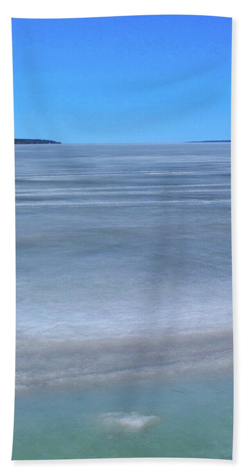 Abstract Bath Sheet featuring the photograph Spring Thaw by Lyle Crump