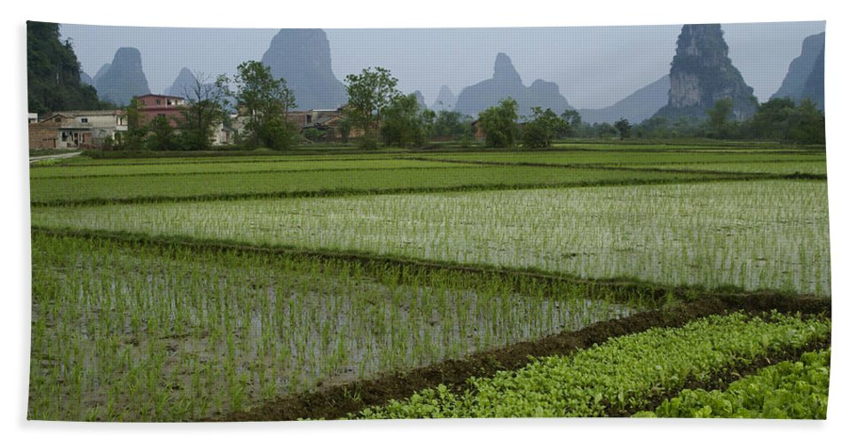 Asia Hand Towel featuring the photograph Springtime In Guangxi by Michele Burgess