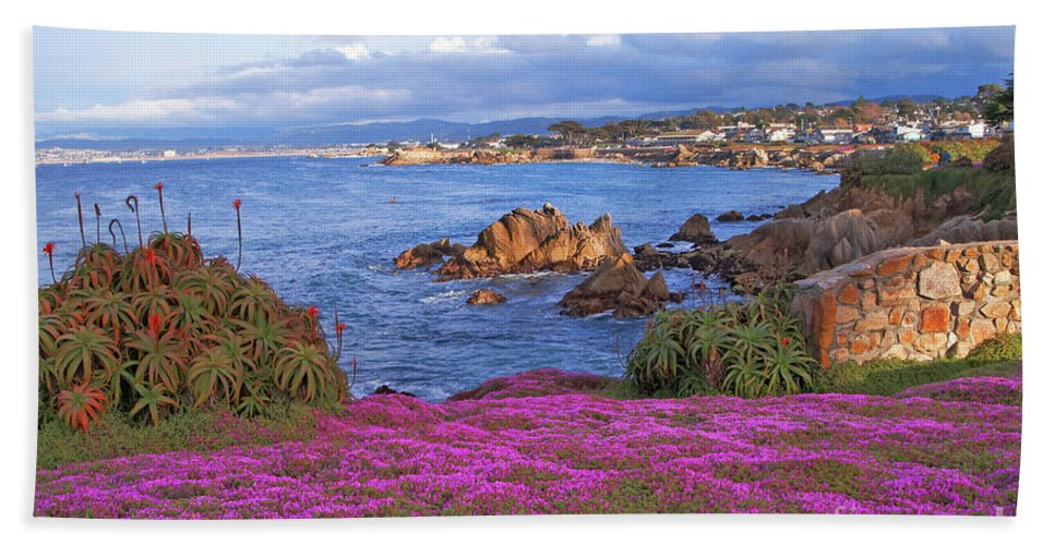 Pink Hand Towel featuring the photograph Springtime In Pacific Grove by Charlene Mitchell