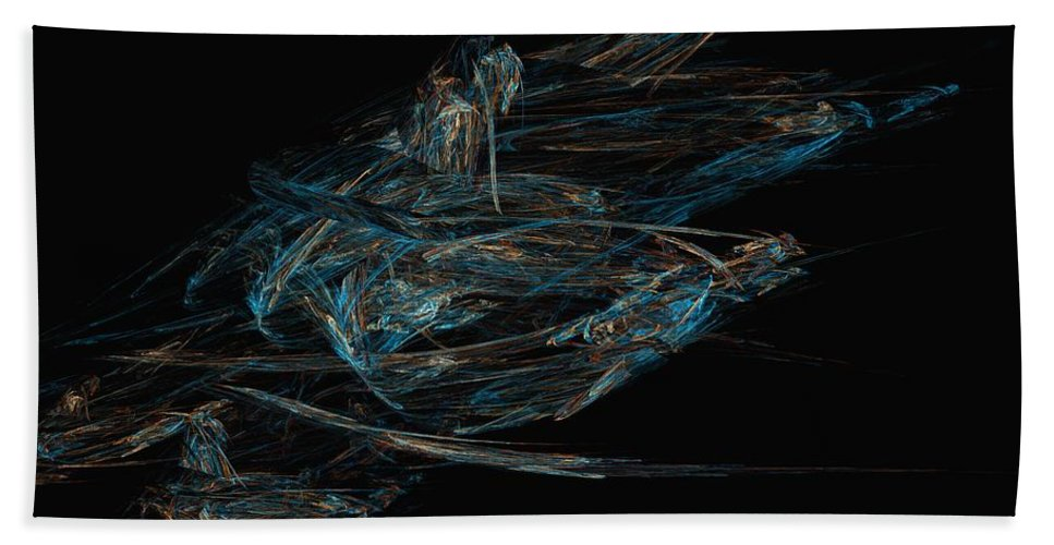 Abstract Digital Painting Bath Towel featuring the digital art Sprint by David Lane