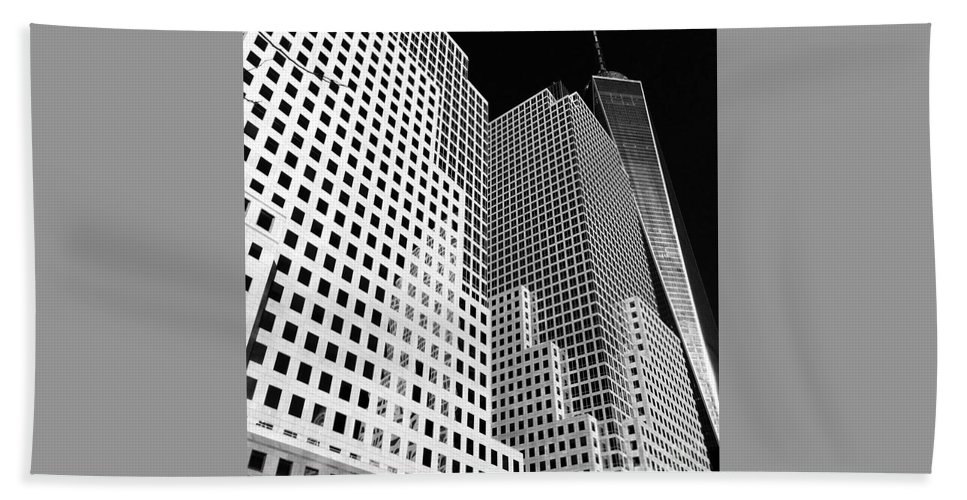 Battery Park City Bath Sheet featuring the photograph Squared, New York City by Debra Banks