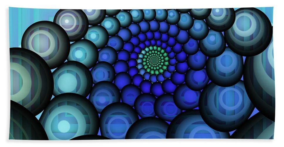 Fractal Hand Towel featuring the digital art Squaring The Circle by Jutta Maria Pusl