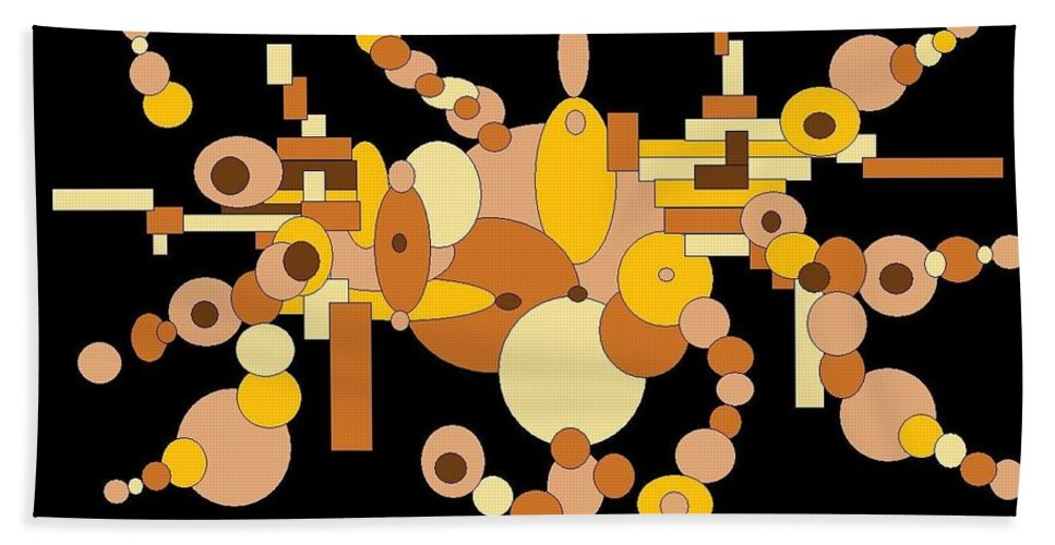 Digital Artwork Bath Sheet featuring the digital art Squiggly by Jordana Sands