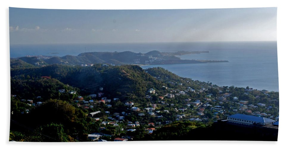 Sunset Hand Towel featuring the photograph St. George's Grenada by Gary Wonning