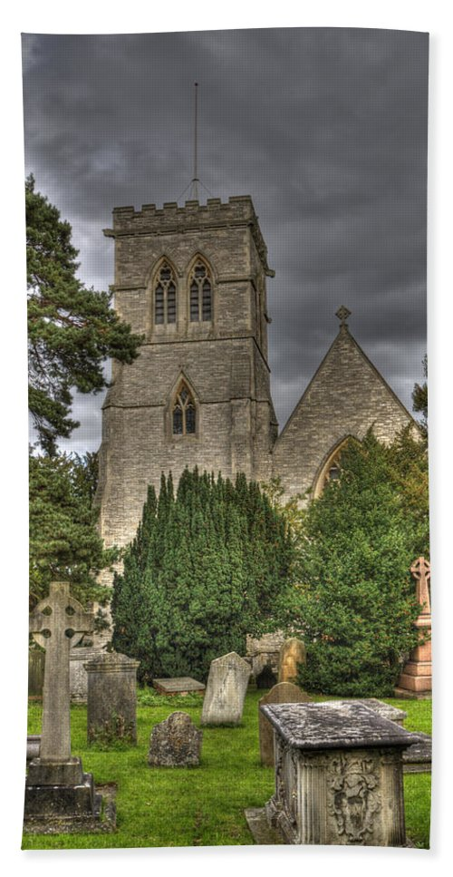 St John Hand Towel featuring the photograph St John The Evangalist Stanmore by Chris Thaxter