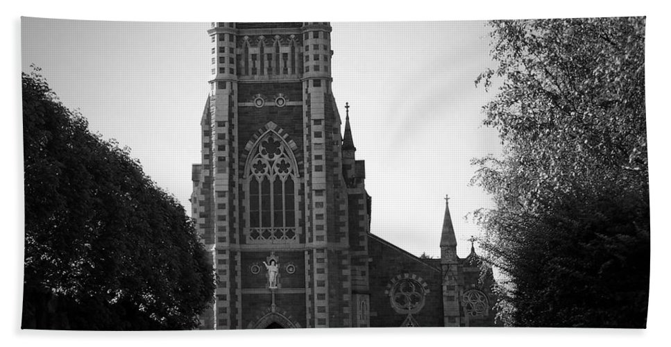 Irish Bath Towel featuring the photograph St. John's Church Tralee Ireland by Teresa Mucha