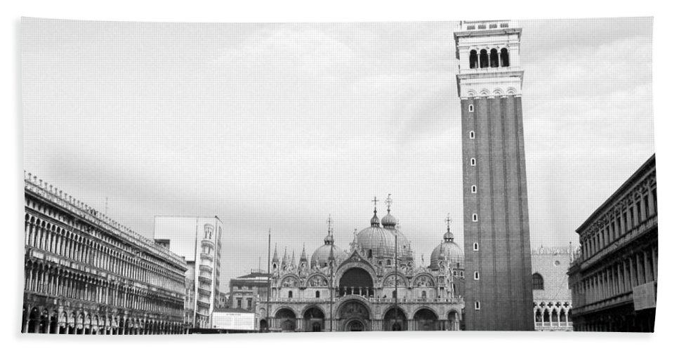 Venice Bath Sheet featuring the photograph St. Mark's Square by Donna Corless
