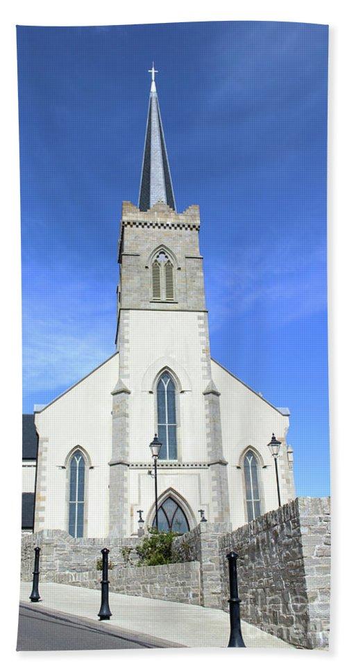 Church Bath Sheet featuring the photograph St. Marys Church Killybegs by Eddie Barron