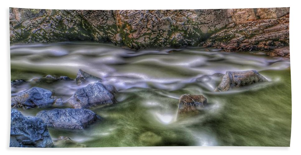 Bath Sheet featuring the photograph St. Paddy's River by Brad Walters