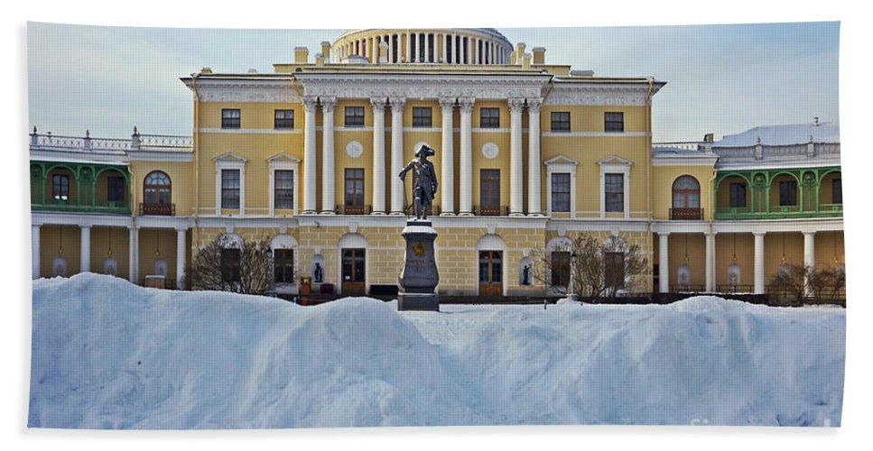 Saint Bath Sheet featuring the photograph St Petersburg, Russia, Pavlovsk Palace by Moshe Torgovitsky