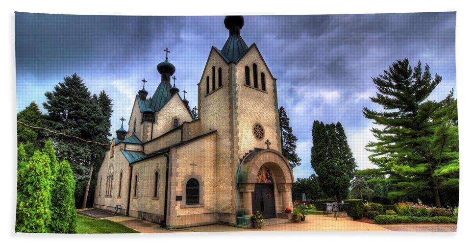 Church Hand Towel featuring the photograph St. Sava by Robert Storost