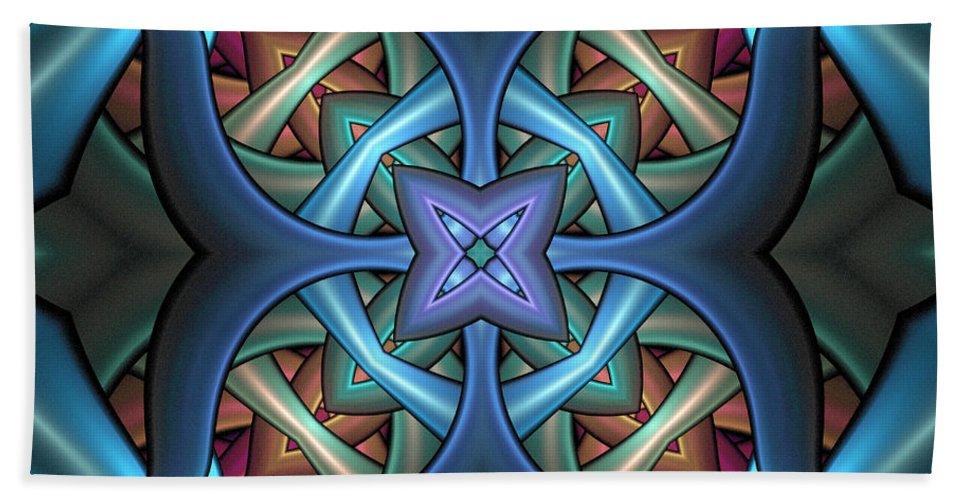 Digital Art Bath Towel featuring the digital art Stacked Kaleidoscope by Amanda Moore