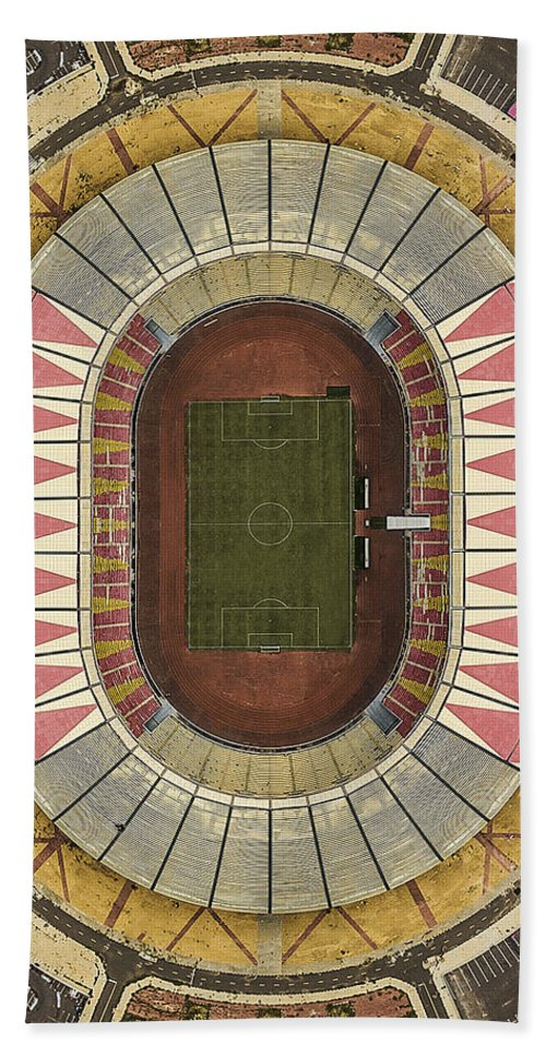 Angolan Hand Towel featuring the photograph Stadium by Artur Carvalho