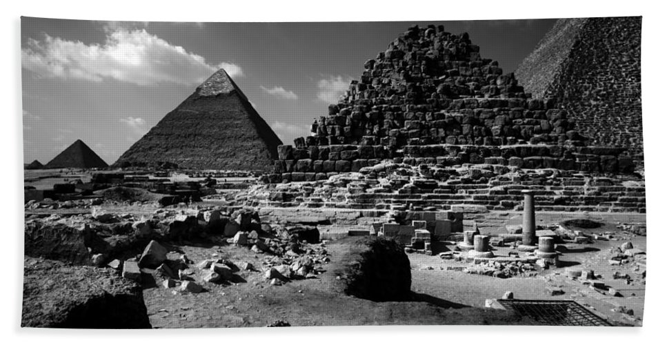 Pyramids Hand Towel featuring the photograph Stair Stepped Pyramids by Donna Corless