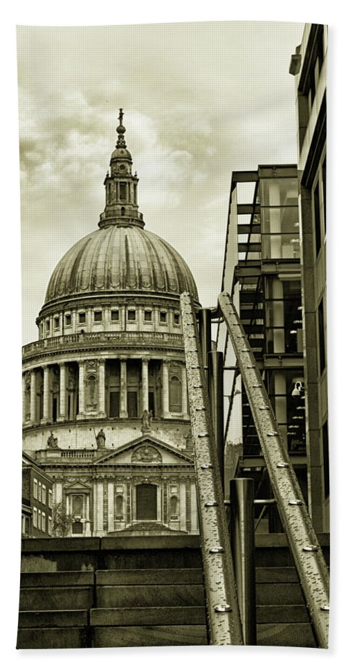 London Hand Towel featuring the photograph Stairs To St Pauls by Martin Newman