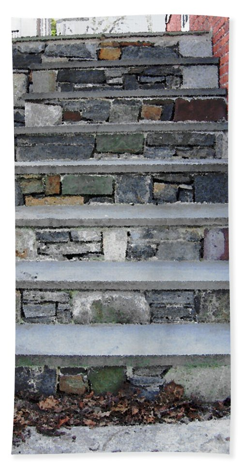 Stairs Hand Towel featuring the photograph Stairs To The Plague House by RC DeWinter