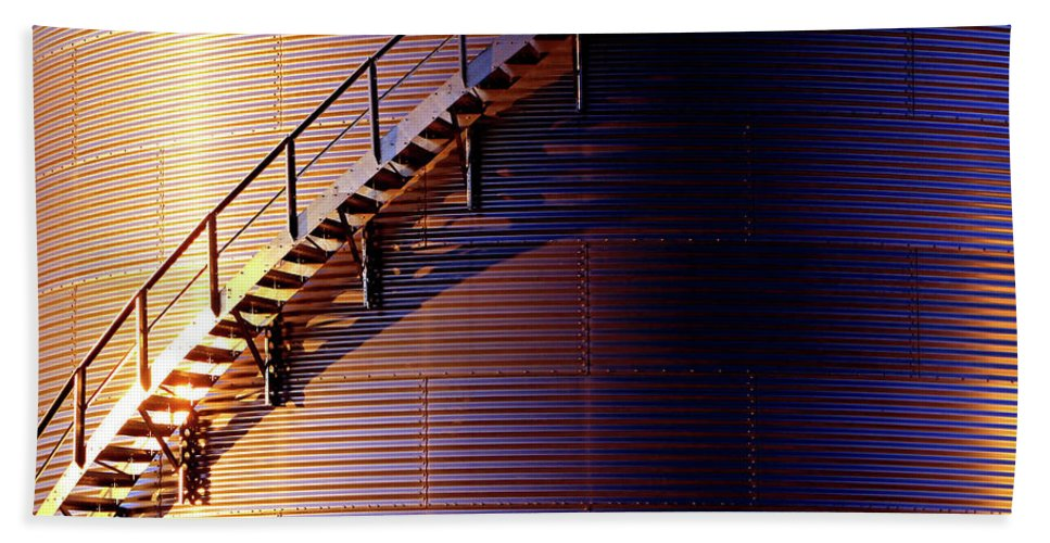 Stairs Hand Towel featuring the photograph Stairway Abstraction by Christopher McKenzie